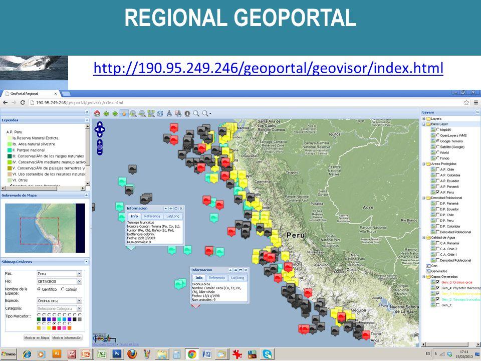 http://190.95.249.246/geoportal/geovisor/index.html REGIONAL GEOPORTAL