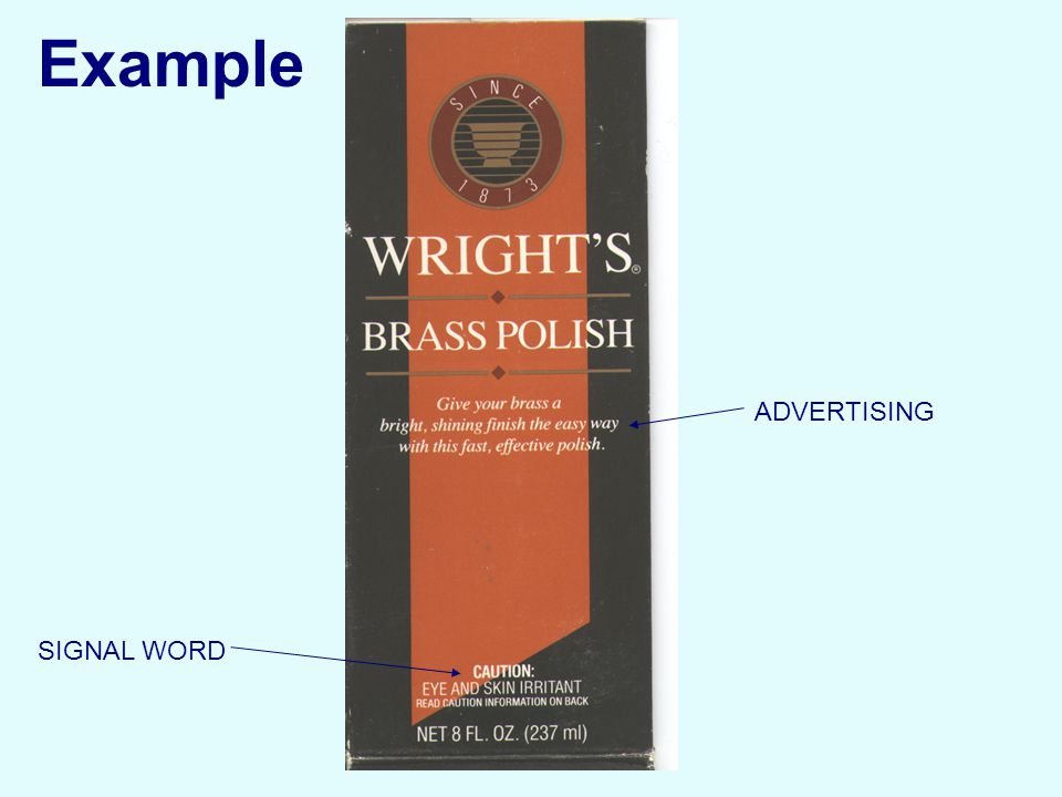 SIGNAL WORD ADVERTISING Example