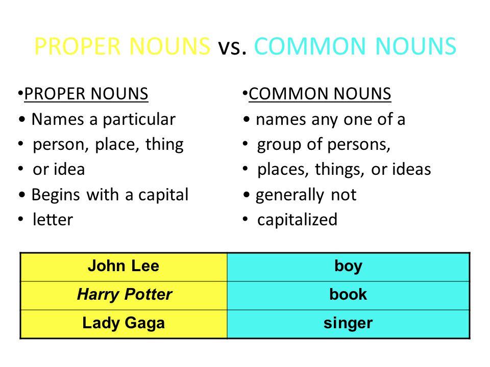 CONCRETE NOUNS vs.