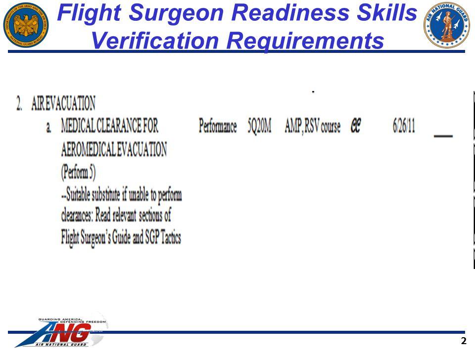 Flight Surgeon Readiness Skills Verification Requirements 2