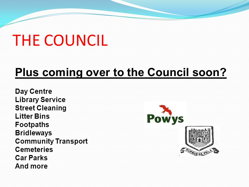THE COUNCIL Plus coming over to the Council soon.