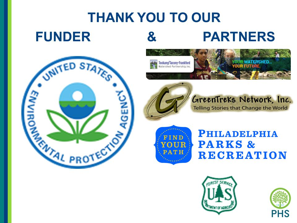 THANK YOU TO OUR FUNDER & PARTNERS