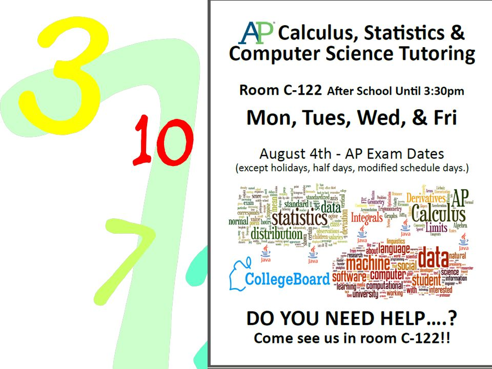 NHS Tutoring Available Every Monday & Wednesday Room C115 - 2:20-3:20pm Includes Honors Classes English: English 9, English 10, English 11, English 12 Math: Algebra 1, Geometry, and Algebra 2 Science: Investigative Science, Biology, Chemistry Social Studies: World History, AM/AZ History, & Econ/Gov't Foreign Language: Depends on the level