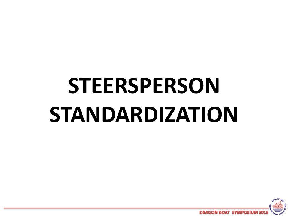 STEERSPERSON STANDARDIZATION