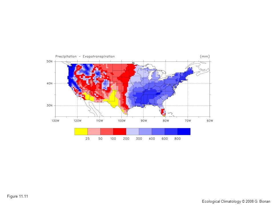 Figure 11.11 Ecological Climatology © 2008 G. Bonan