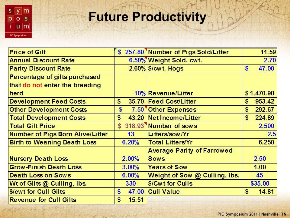 PIC Symposium 2011 | Nashville, TN Future Productivity