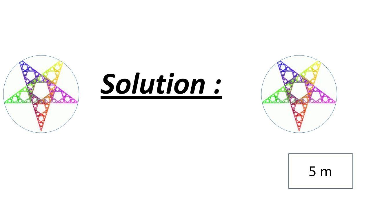 Solution : 5 m