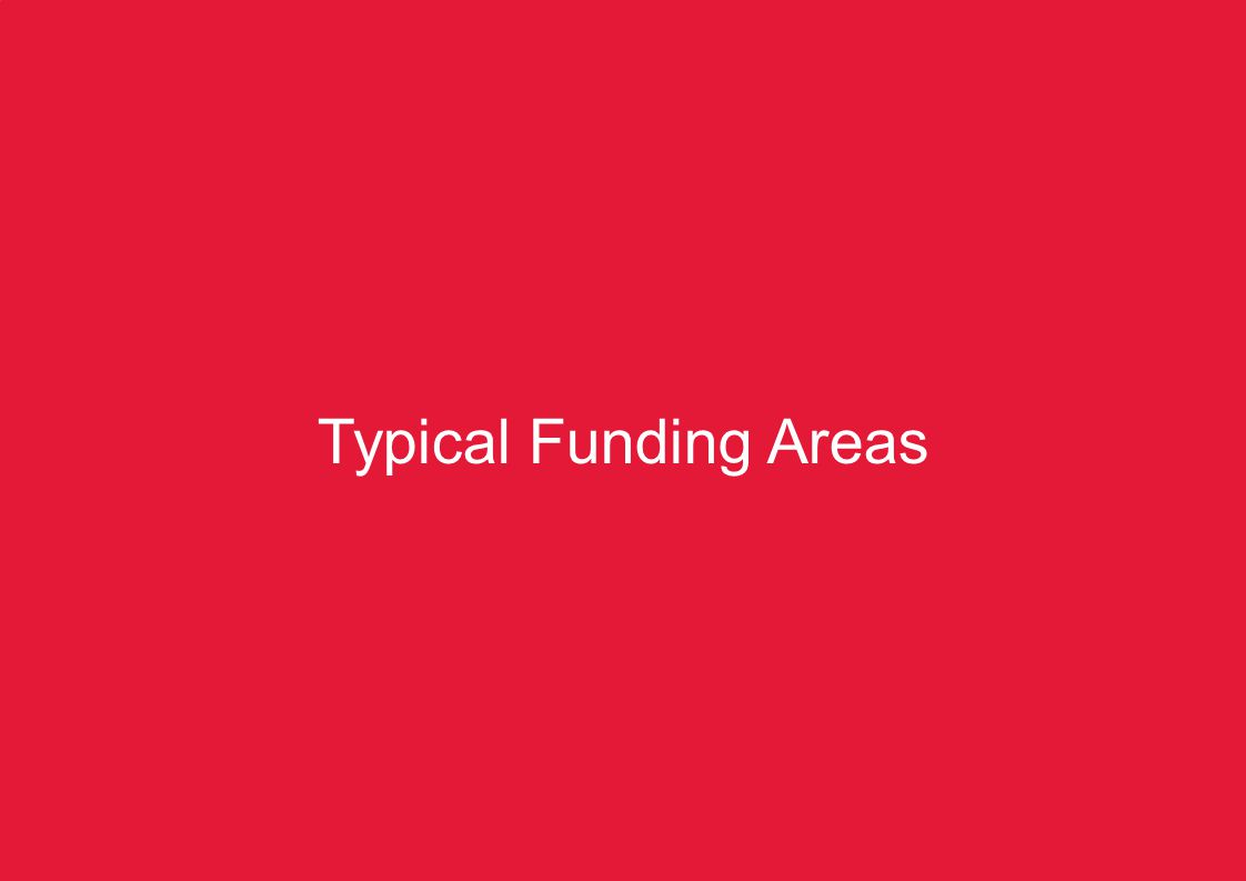 KZN Pre-COP17 Summit – Climate Change Finance8 Typical Funding Areas