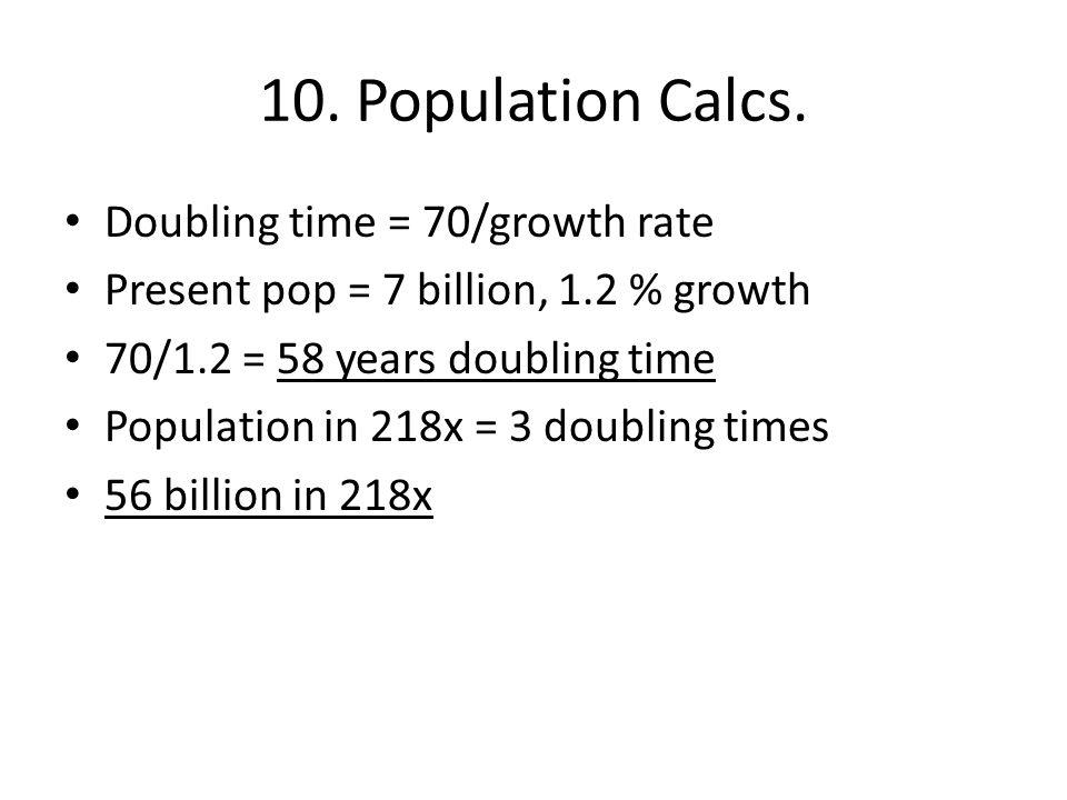 10. Population Calcs.