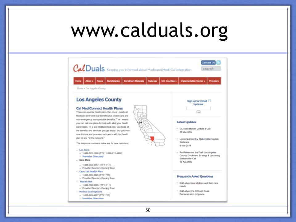 www.calduals.org 30