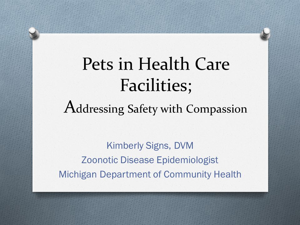Puppies and Kittens O While cute, young animals pose a much greater risk of zoonotic disease transmission for at risk populations (young, old, immune-suppressed) O Much more likely to be shedding enteric pathogens, often while appearing healthy (Campylobacter, Salmonella, E.