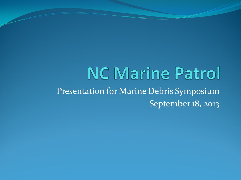 Topics: Nets Storm debris Crab pots Sunken boats Related NC General Statutes What can I do?