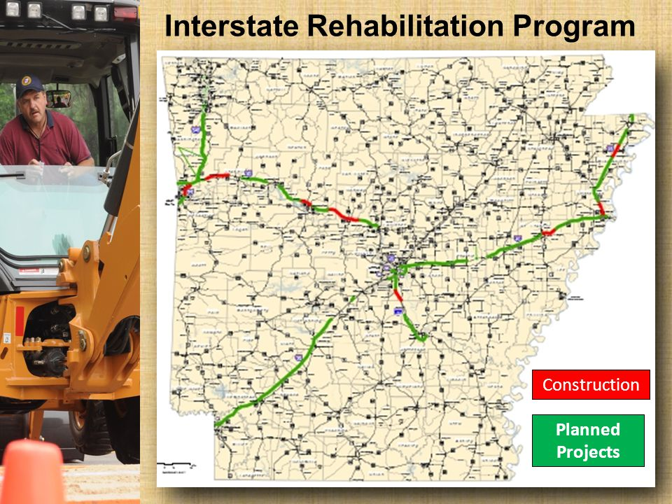 Interstate Rehabilitation Program Planned Projects Construction Planned Projects