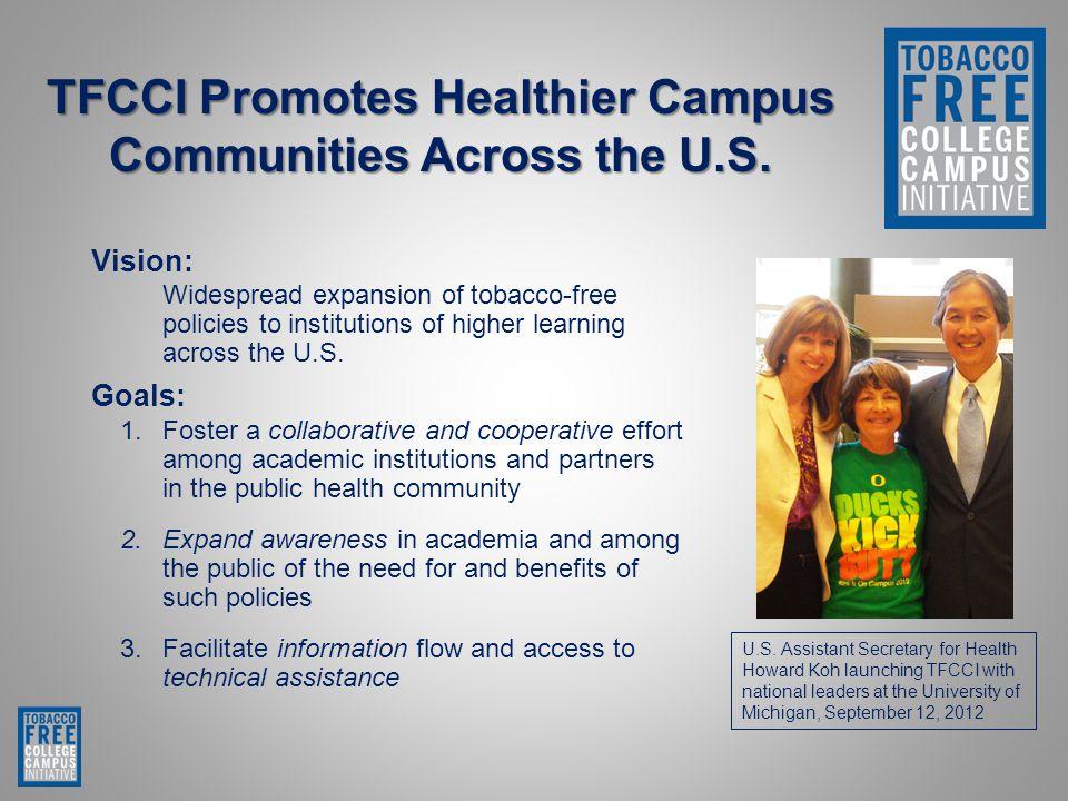 TFCCI Promotes Healthier Campus Communities Across the U.S.