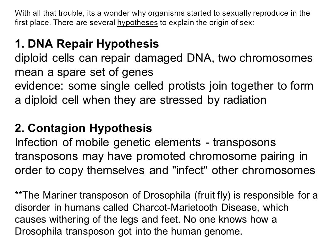 With all that trouble, its a wonder why organisms started to sexually reproduce in the first place.