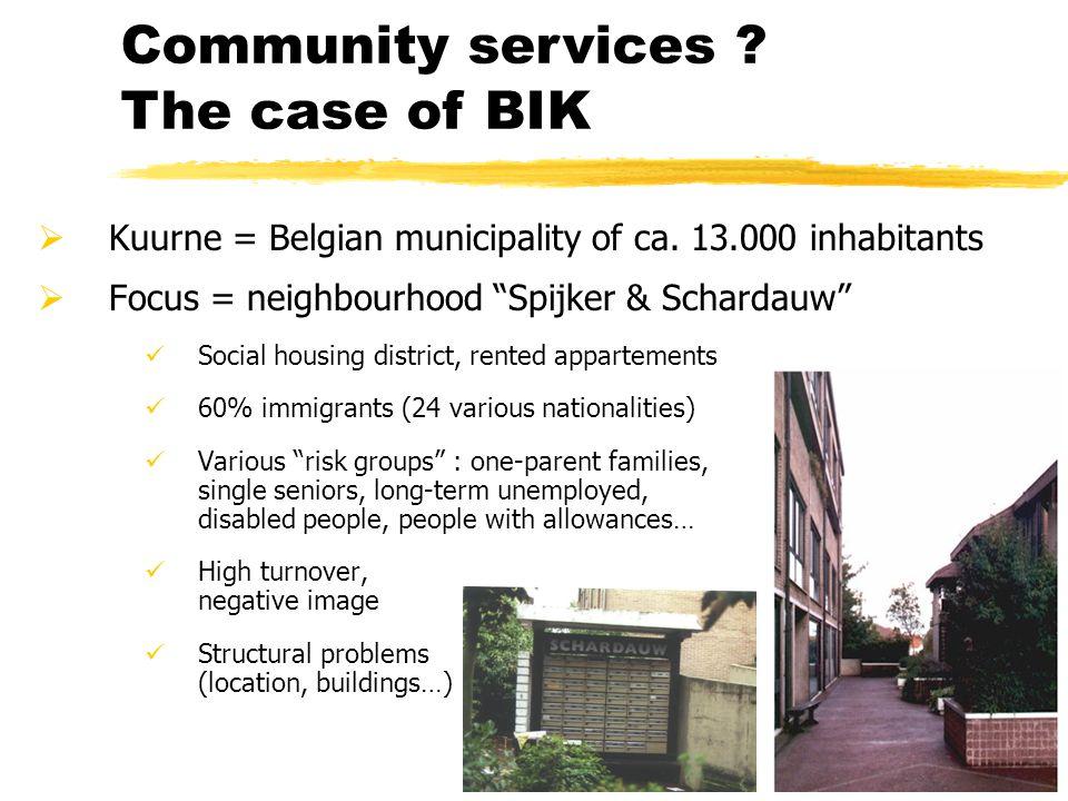""" Kuurne = Belgian municipality of ca. 13.000 inhabitants  Focus = neighbourhood """"Spijker & Schardauw"""" Social housing district, rented appartements 6"""