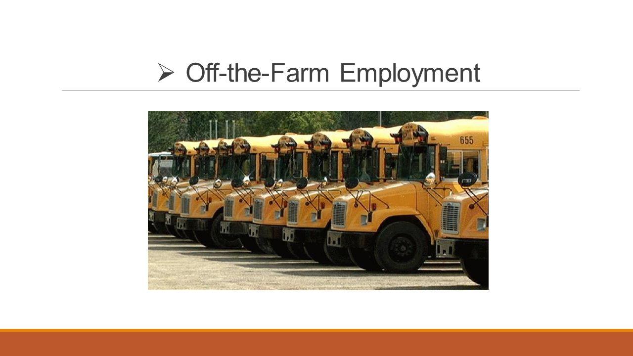  Off-the-Farm Employment