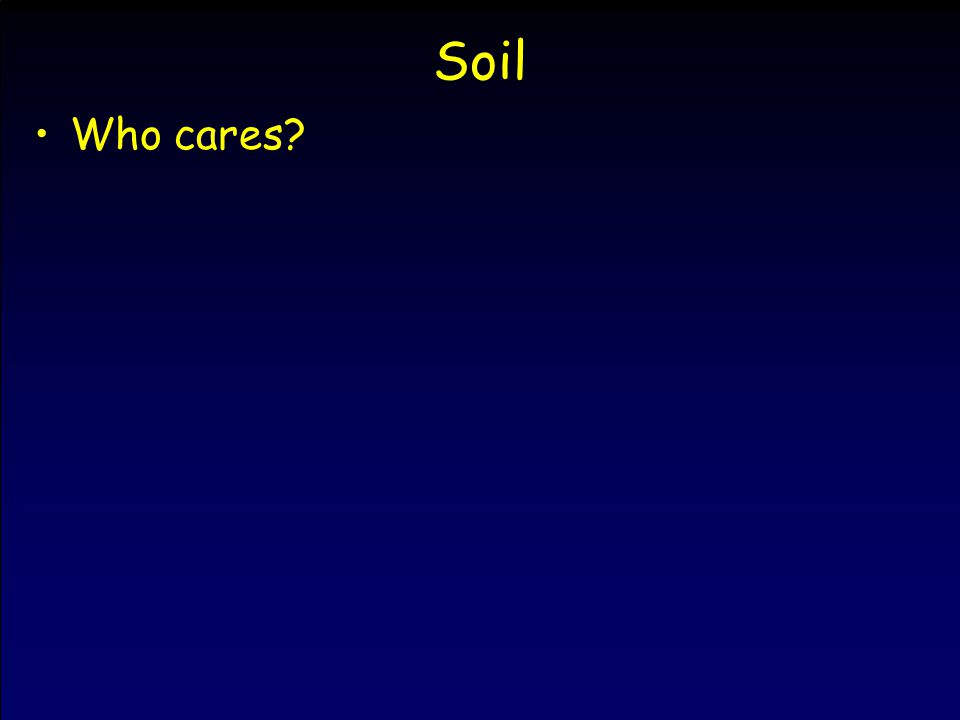 Soil Who cares