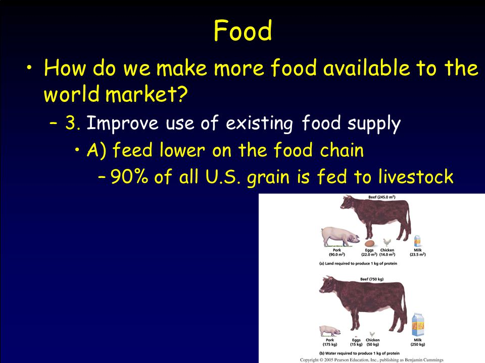 Food How do we make more food available to the world market.