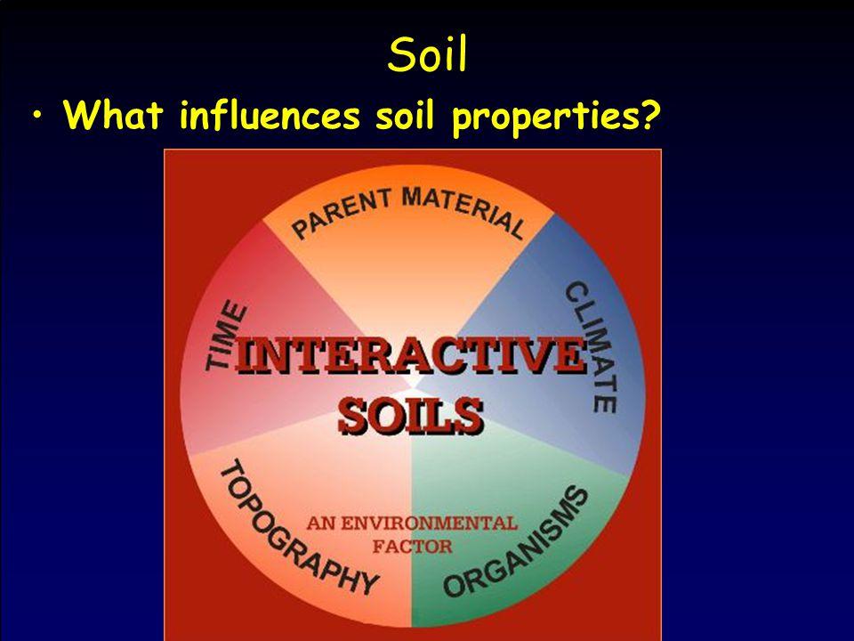 Soil What influences soil properties