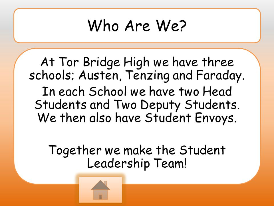 Role models : We present our self s as role models by helping all of the staff and sorting out problems around the school.