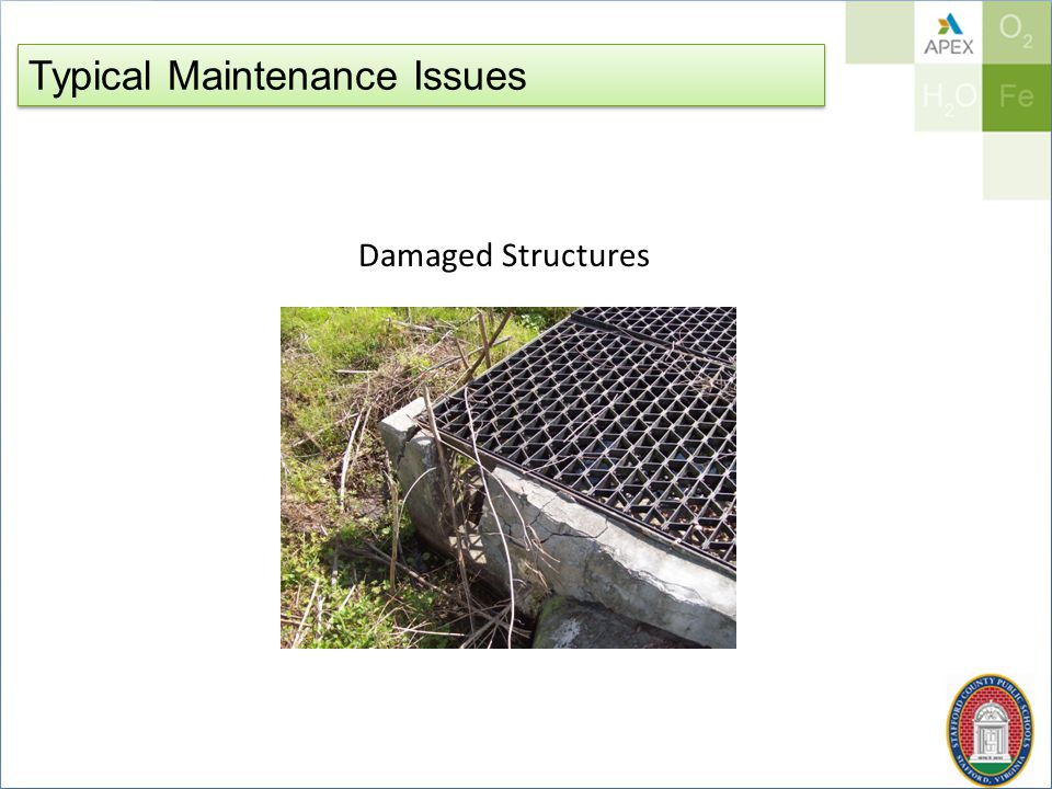 Typical Maintenance Issues Damaged Structures