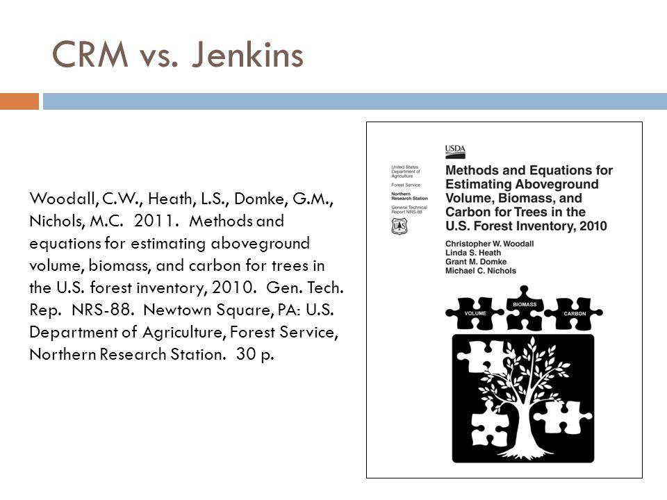 CRM vs. Jenkins Woodall, C.W., Heath, L.S., Domke, G.M., Nichols, M.C.