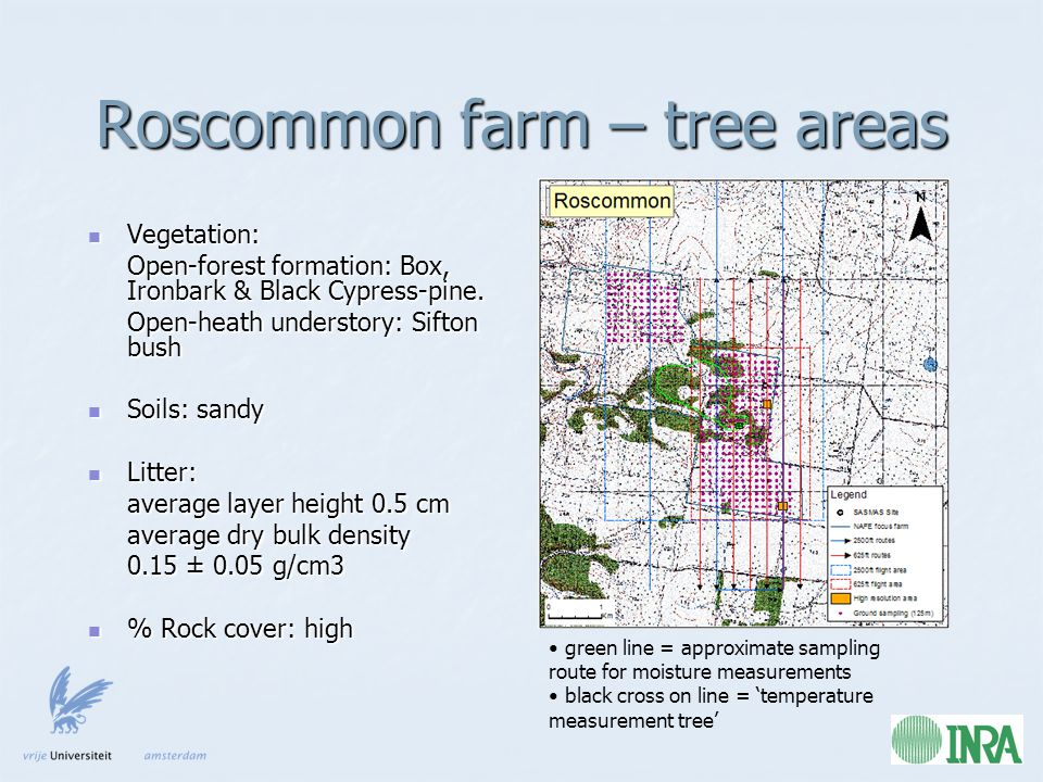 Roscommon farm – tree areas Vegetation: Vegetation: Open-forest formation: Box, Ironbark & Black Cypress-pine.