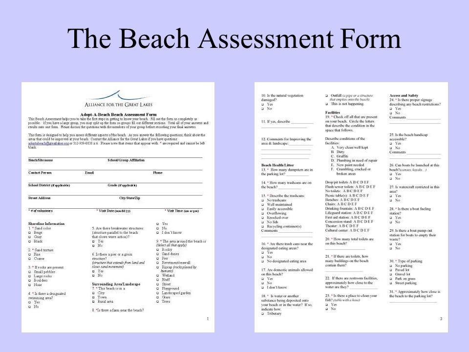The Beach Assessment Form