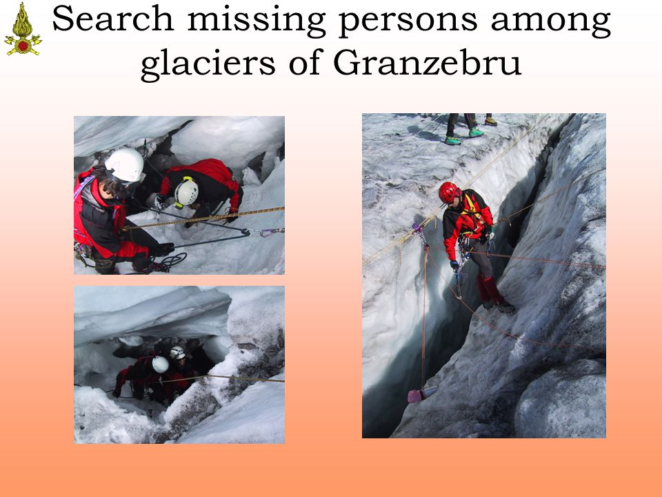Search missing persons among glaciers of Granzebru