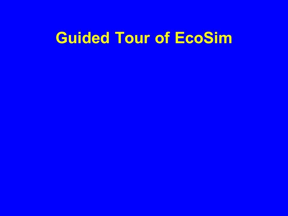 Guided Tour of EcoSim