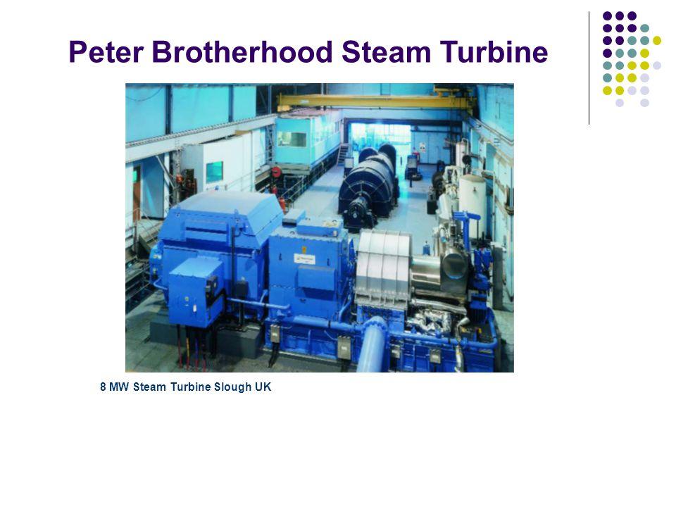Peter Brotherhood Steam Turbine 8 MW Steam Turbine Slough UK