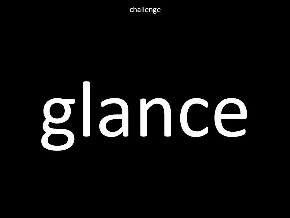 glance challenge