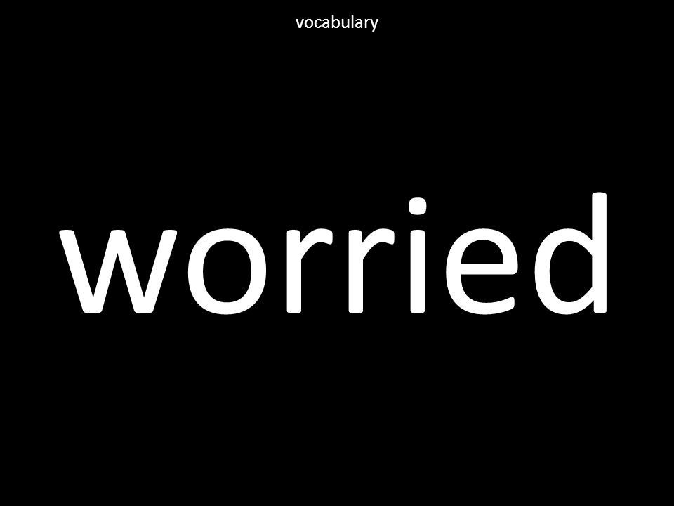 worried vocabulary