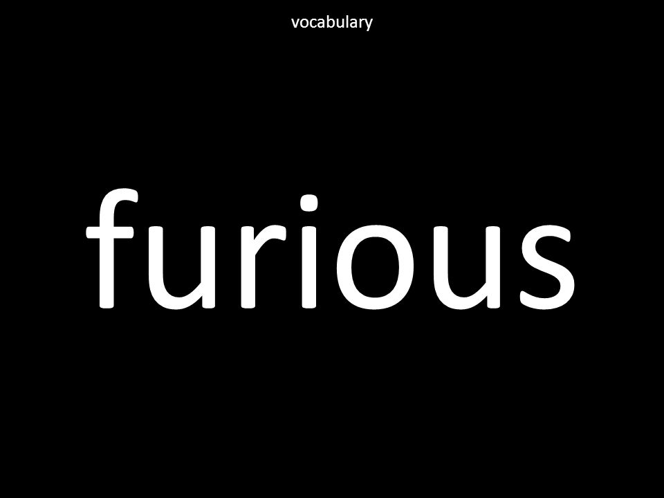 furious vocabulary