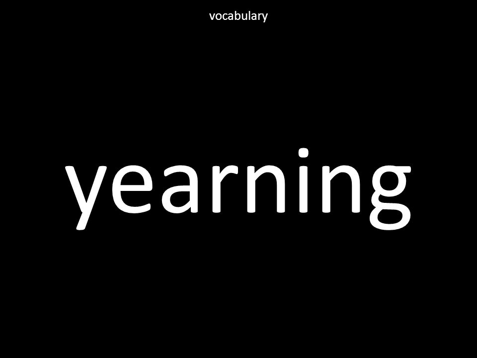 yearning vocabulary