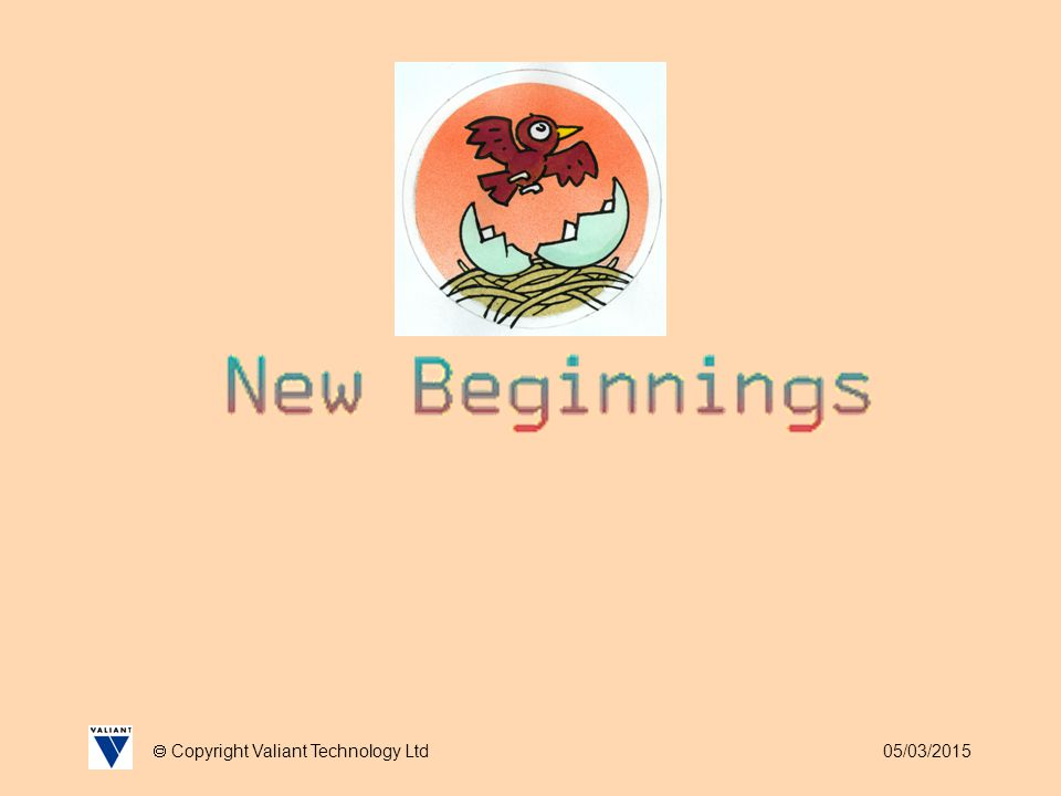 05/03/2015  Copyright Valiant Technology Ltd New Beginnings Setting Targets Aside from setting work targets it can also be meaningful and fun to set other targets and use Roamer to decide which ones individuals should work towards.