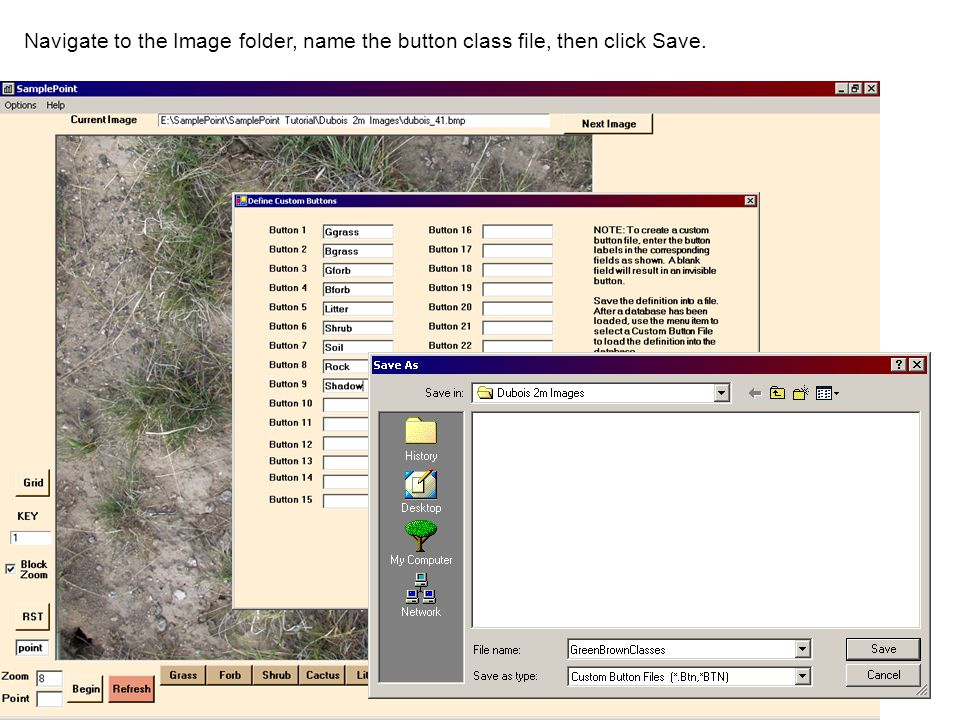 Navigate to the Image folder, name the button class file, then click Save.