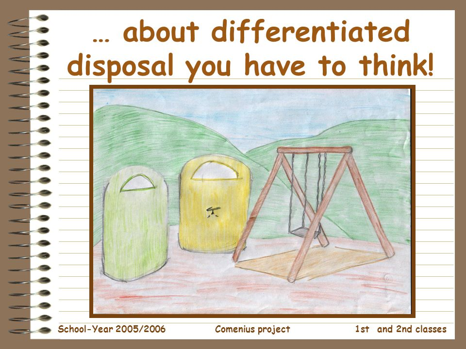 1st and 2nd classes School-Year 2005/2006Comenius project … about differentiated disposal you have to think!