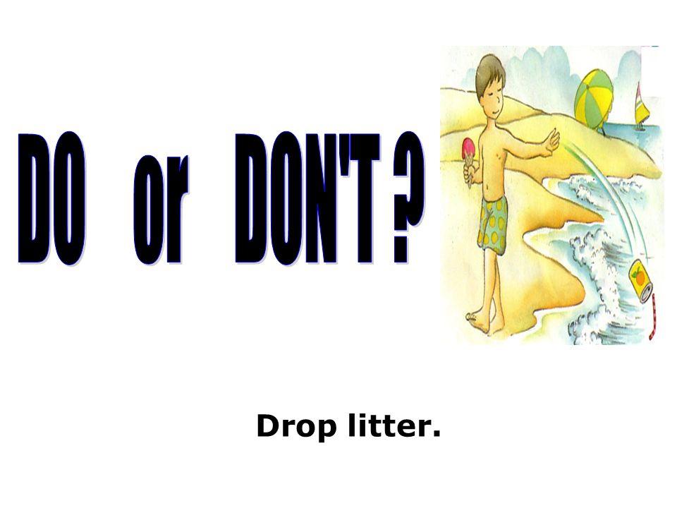 Drop litter.