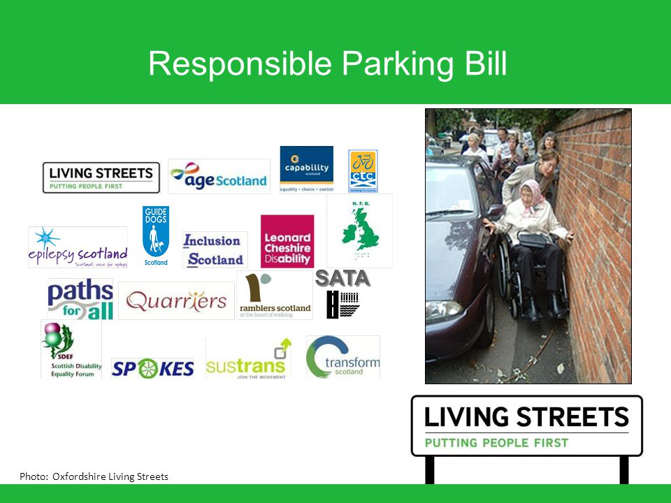 Responsible Parking Bill Photo: Oxfordshire Living Streets