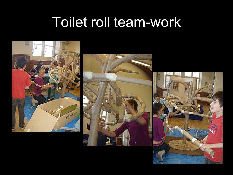 Toilet roll team-work