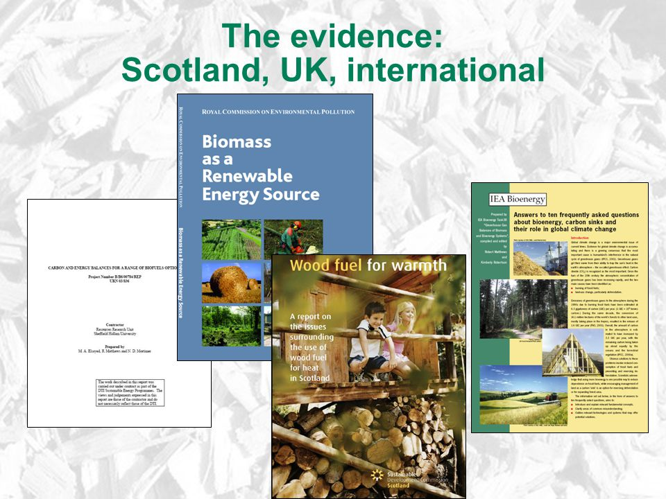 The evidence: Scotland, UK, international