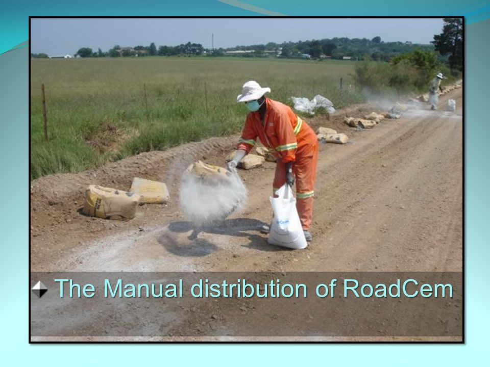 The Manual distribution of RoadCem The Manual distribution of RoadCem