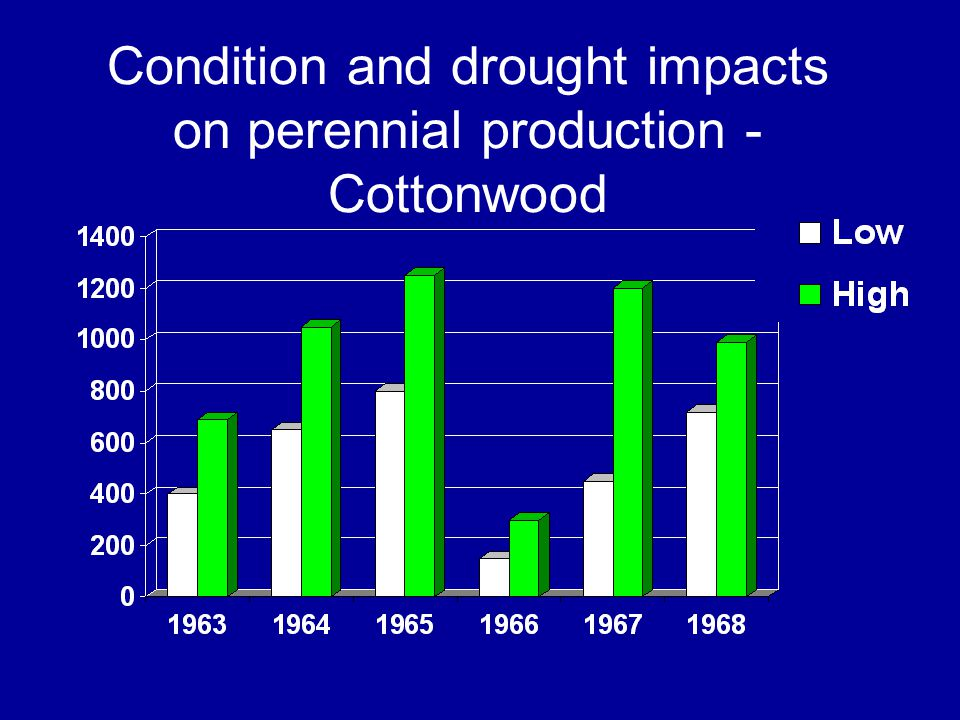 Condition and drought impacts on perennial production - Cottonwood