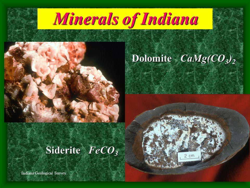 Gypsum CaSO 4 *2H 2 O Minerals of Indiana Sphalerite ZnS R.Weller/Cochise College