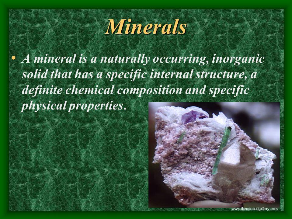 Minerals www.themineralgallery.com