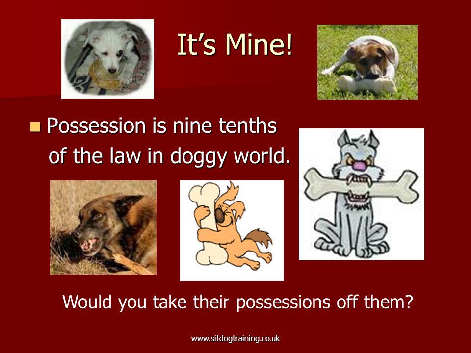 www.sitdogtraining.co.uk It's Mine.