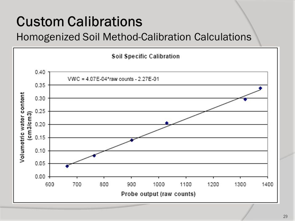 Custom Calibrations Homogenized Soil Method-Calibration Calculations 29