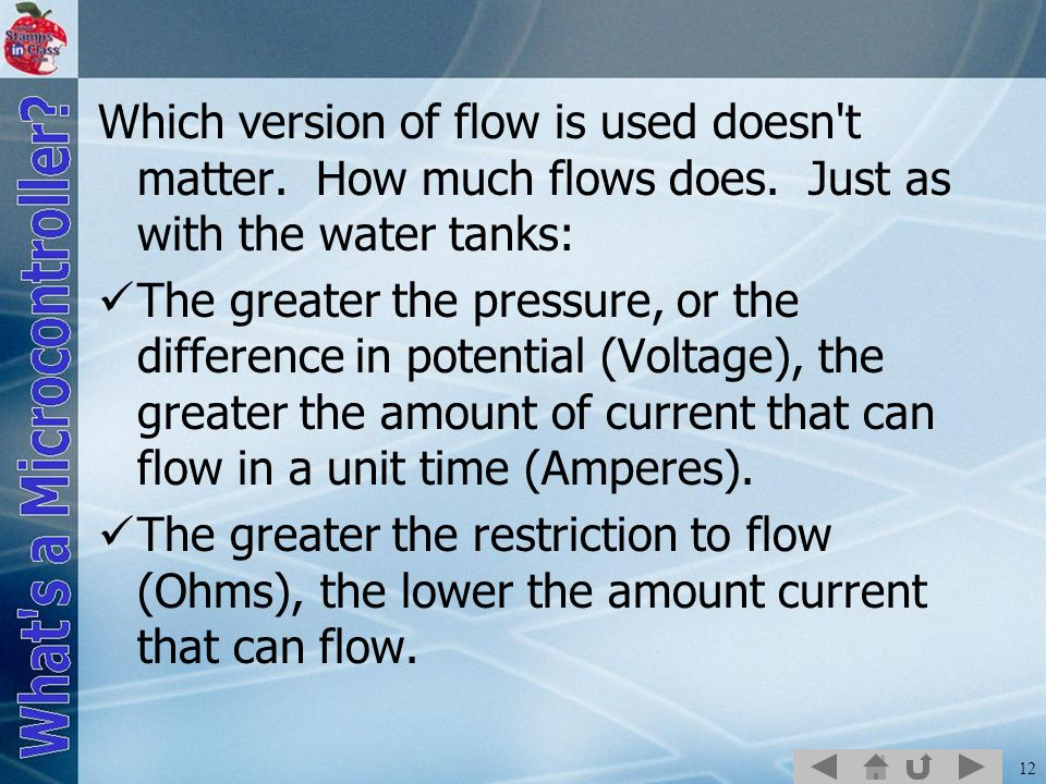 12 Which version of flow is used doesn t matter.How much flows does.